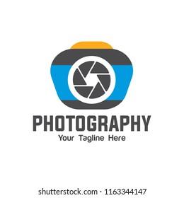 camera photography logo icon vector eps 10, logo template