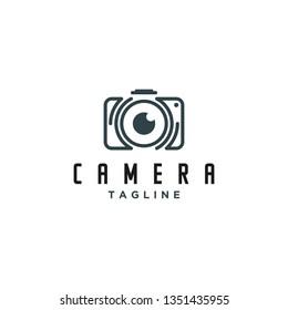 camera photography logo icon vector template - Vector