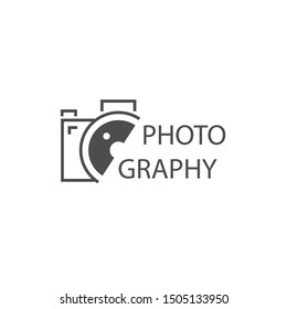 Camera Photography Logo Icon Vector Design Template