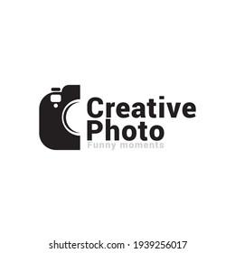 camera photography logo icon vector template.