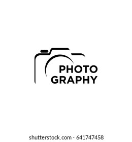 camera photography logo icon vector template