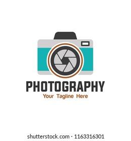 camera photography logo vector eps 10 template