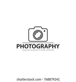 camera photography simple logo, icon, design template