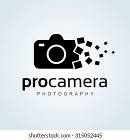Camera, Photography Vector Logo Template