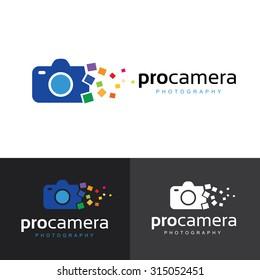Camera, Photography Vector Logo Template