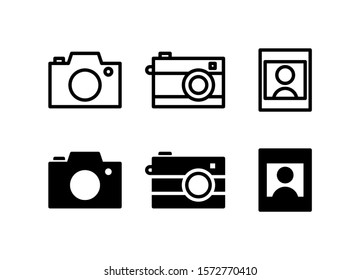 Camera & Picture Image 48 Pixel Outline Glyph Icon Vector