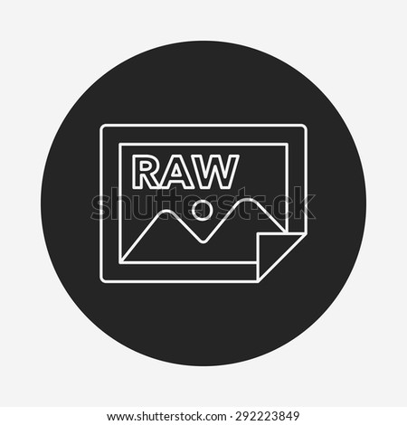 Camera Raw Line Icon Stock Vector (Royalty Free) 292223849