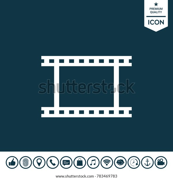 Camera Roll, photographic film, camera film symbol icon