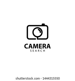 Camera search Logo Outline Monoline