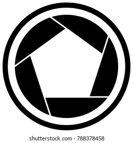 camera shutter icon symbol shutter blade stock vector royalty free