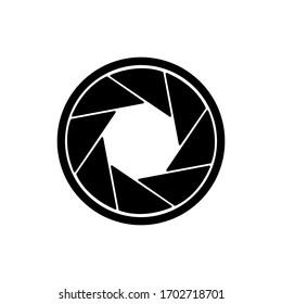 camera shutter icon. vector illustration