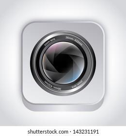 camera shutter over gray background vector illustration