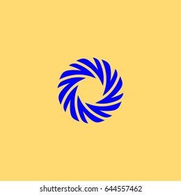 Camera shutter vector logo.