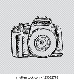 Camera in sketchy style