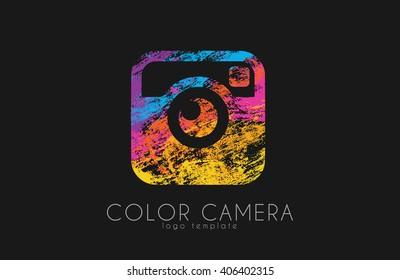 Camera symbol. Camera logo design. Creative logo