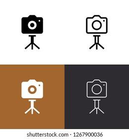 Camera Tripod Icon Set