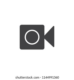 Camera vector icon. filled flat sign for mobile concept and web design. video camera simple solid icon. Symbol, logo illustration. Pixel perfect vector graphics