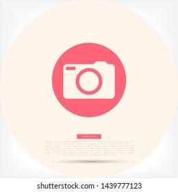 Camera Vector icon . Lorem Ipsum Illustration design