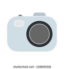 Camera vector icon, photo symbol. Simple, flat design for web or mobile app
