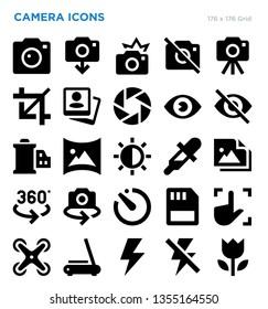 Camera Vector Icon Set