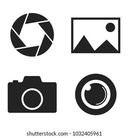 camera vector icon set for web and mobile