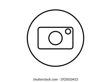 Camera vector icon. Camera symbol for your web site design, logo, app, UI. Vector illustration.