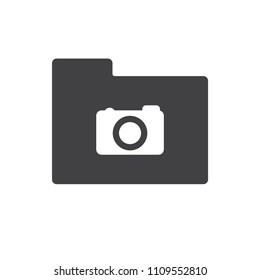 Camera vector icon for web design in a flat style