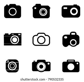 Camera vector icons.