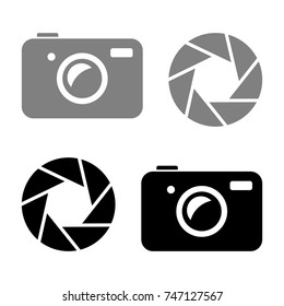 Camera vector icons on white background