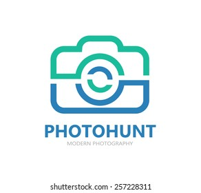 Camera vector logo or symbol icon