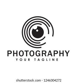 camera vector logo template
