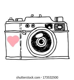 camera. vector sketch