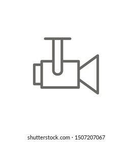 Camera, video icon. Element of theater icon. Thin line icon