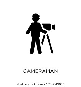 cameraman icon. cameraman symbol design from Cinema collection. Simple element vector illustration on white background.