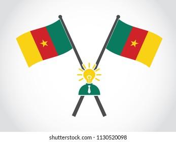 Cameroon Emblem Bright Idea Businessman