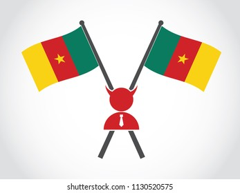 Cameroon Emblem Evil Businessman