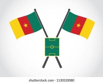 Cameroon Emblem Match Soccer