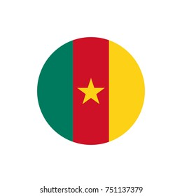 Cameroon flag, official colors and proportion correctly. Cameroon flag. Vector illustration