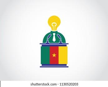 Cameroon Lack Of Idea Businessman Podium Speech