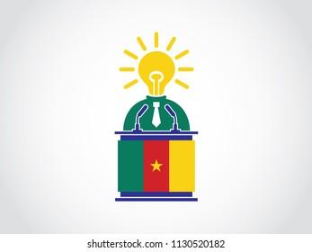 Cameroon Podium Bright Idea Businessman Speech
