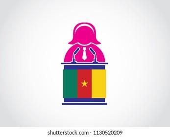 Cameroon Podium Businesswoman Speech