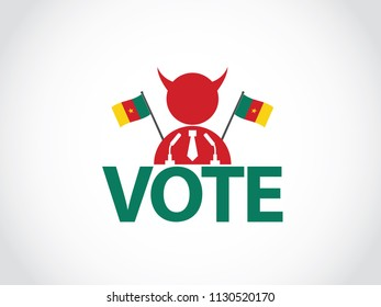 Cameroon Podium Corrupt Politician Speech Election