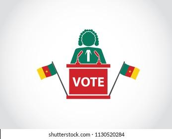 Cameroon Podium Judge Speech Poll