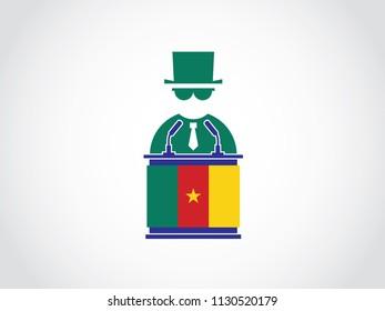 Cameroon Podium Mafia Speech