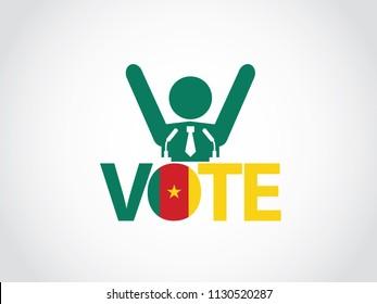 Cameroon Podium Politician Celebrate Speech