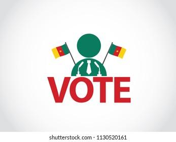 Cameroon Podium Politician Speech Election