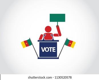 Cameroon Podium Protest Speech Poll