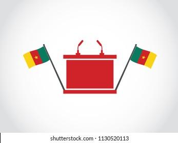 Cameroon Podium Speech