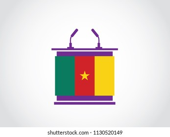 Cameroon Podium State Speech