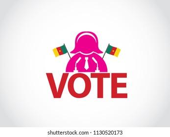 Cameroon Podium Woman Politician Speech